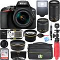 Nikon D3500 24.2MP DSLR Camera with AF-P 18-55mm VR Lens & 70-300mm Dual Zoom Lens Kit Bundle with Camera Bag, Wide Angle Lens, Telephoto Lens, Filter Sets, 32GB Memory Card and Accessories