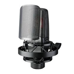 TAKSTAR TAK55 Professional Recording Microphone Condenser Mic 34mm Large Diaphragm Capsule 3 Polar Patterns with Metal Windscreen Shock Mount Aluminum Alloy Carry Case for Studio Recording L