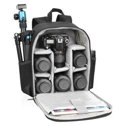 Camera Backpack Professional Waterproof Camera Storage Case Detachable High-elastic Mesh Bag 14.2 × 11 × 5.5 Inches