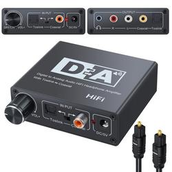 192KHz Optical Coaxial Digital to Analog Audio Converter Adapter Decoder DAC Amp 3.5mm Audio Adapter HiFi Stereo Headphone Amplifier SPDIF Toslink Coaxial to Analog Converter for PS3 Xbox DVD
