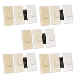 Theater Solutions TSVCD Indoor Speaker Volume Controls 3 Color Dial Audio Switches 5 Piece Pack