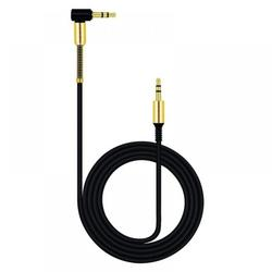 3.5mm Audio Cable, Elbow Angle Male to Male Auxiliary Stereo HiFi Speaker Cable Compatible with Car and Phone,Black