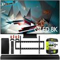 Samsung QN75Q800TA 75-inch Q800T QLED 8K UHD HDR Smart TV 2020 Theater Surround Sound Bundle with Samsung HW-Q60T 5.1ch Soundbar + Wall Mount + 2 x Deco Gear HDMI Cables