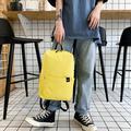 Aktudy Simple Canvas Backpacks Women School Shoulder Bags Casual Rucksack (Yellow)