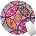 Marphe Mouse Pad Mousepad Non-Slip Rubber Gaming Mouse Pad Round Mouse Pads for Computers Laptop (Mandala Flower)