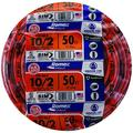 Southwire 28829022 50' 10/2 with ground Romex brand SIMpull residential indoor electrical wire type NM-B, Orange