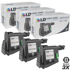 LD Compatible Replacements for Kyocera-Mita 1T02M70UX0 (TK1122) Set of 3 Black Laser Toner Cartridges for use in Kyocera-Mita FS 1025MFP, 1060DN, and 1125MFP s