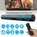 Sound Bar, Sound Bar for TV PC, Soundbar with Subwoofer, Wired & Wireless Bluetooth 5.0 Speaker, RCA/Aux/USB Input, Surround Sound Home Theater Audio Soundbar for Phones/Tablet, with Remote Control