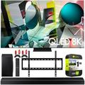 Samsung QN65Q900TS 65-inch Q900TS QLED 8K UHD HDR Smart TV 2020 Theater Surround Sound Bundle with Samsung HW-Q60T 5.1ch Soundbar + Wall Mount + 2 x Deco Gear HDMI Cables