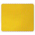 Pink Polka Dots Mouse Pad, Spots Repeating Pattern and Plain Background Concept Pattern, Rectangle Non-Slip Rubber Mousepad, Magenta and Yellow, by Ambesonne