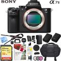 Sony ILCE-7M2/B Alpha a7II Mirrorless Interchangeable Lens Camera Body Bundle with 32GB Memory Card, Camera Bag for DSLR, Camera Battery, Battery Charger, Paintshop Pro 2018 and 40.5mm Filter Kit