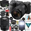 Sony a6600 Mirrorless Camera 4K APS-C ILCE-6600MB with 18-135mm F3.5-5.6 OSS Lens Kit and Deco Gear Case + Extra Battery + Flash + Wide Angle & Telephoto Lens + Filter Kit + 64GB Accessories Bundle
