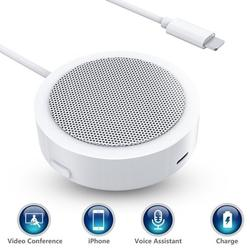 CuDock Compact Portable Computer Speakers Portable Outdoor Laptop Portable Speaker Head Phone With External Speakers Speaker System Iphone White