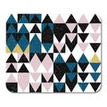 KDAGR Abstract Triangles Pattern in Pastel Pink Blue Black White and Gold Modern Geometric Worn Out Creative Mousepad Mouse Pad Mouse Mat 9x10 inch
