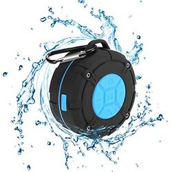 [Updated Version] Portable Shower Speaker,TOPROAD IPX7 Waterproof Wireless Outdoor Speaker with HD Sound,2 Suction Cups,Built-in Mic,Hands-Free Speakerphone for Bathroom, Pool, Beach, Hiking, Bic