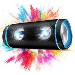Wireless Speaker Bluetooth, 40W (70W Peak) 3D Bass Sound Bluetooth Portable Speaker with Party Light, 40H IP67 Bluetooth Waterproof Speaker with Power Bank, TWS, Built-in mic, Dustproof, Aux in M