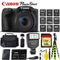 Canon PowerShot SX420 is Digital Point and Shoot 20MP Camera + Extra Battery + Digital Flash + Camera Case + 128GB Class 10 Memory Card - Intl Model