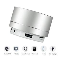 AUPERTO Portable Wireless Bluetooth Speaker, Mini Wireless Speaker, Portable Bluetooth Speaker with HD Sound, 4H Play-time, Built-in Mic, TF Card Slot