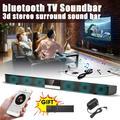 60W Soundbar 360° 3D Surround Sound bar 34 inch TV Wireless Soundbar Built-in Subwoofer Display Screen Stereo Speaker HIFI Superbass Home Theater Audio For PC Computer Smartphone