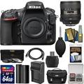 Nikon D810A DSLR Camera with 24:85mm VR Lens 64GB Card Battery Charger Case 3 Filters Kit