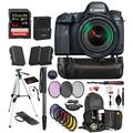 Canon EOS 6D Mark II DSLR Camera with 24-105mm f/3.5-5.6 Lens (1897C021) Professional Bundle package deal ' Battery Grip + Replacement Battery (2CT) + SanDisk extreme pro 64gb SD card + MORE