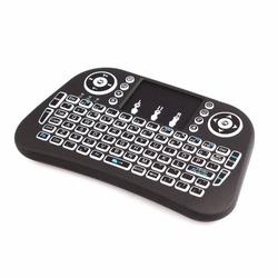 Practical and Simple Mini i10 2.4G Air Mouse Wireless Keyboard with Touchpad Black
