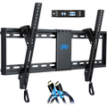 """Mounting Dream UL Listed TV Mount for Most 37-70 Inches TVs, Universal Tilt TV Wall Mount Fits 16"""", 18"""", 24"""" Studs with Loading 132 lbs & Max VESA 600x400mm,Low Profile"""