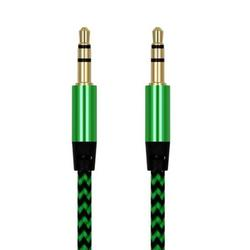 NUZYZ Braided Wire Male to Male 3.5mm Audio Cable AUX Line for Car Speaker Cell Phone