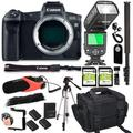 Canon EOS R Mirrorless Digital Camera (Body Only) + 64GB Memory + Deluxe Camera Bag + Pro Battery Bundle + Microphone + TTL Speed Light (18pc Bundle)
