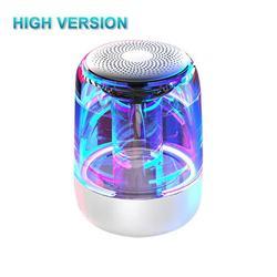 C7 Bluetooth 5.0 Speaker Transparent LED Luminous Subwoofer TWS 6D Surround HIFI Stereo Cool Audio