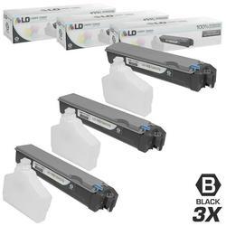 LD Compatible Replacements for Kyocera-Mita TK-512K Set of 3 Black Laser Toner Cartridges for use in Kyocera-Mita FS-C5020N, FS-C5025N, and FS-C5030N s