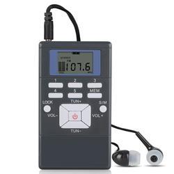 TSV Mini Portable FM Radio with Earphone and Lock Screen, Battery Operated Personal FM Pocket Radio - Small Pocket Radio - Mini Digital Tuning Walkman Radio - for Walking/Running/Jogging/Gym/Camping