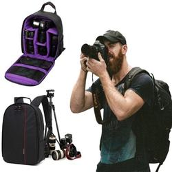 """Sixtyshades DSLR Camera Bag Waterproof Camera Case Backpack Rucksack for SLR/DSLR Camera, Lens and Accessories """"Purple"""""""