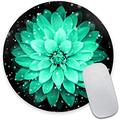 Watercolor Lotus Flower Round Mouse Pad,Beautiful Mouse Mat, Cute Mouse Pad with Design, Non-Slip Rubber Base Mousepad, Waterproof Office Mouse Pad, Small Size 7.9 x 0.12 Inch