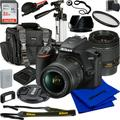 Nikon D3500 DSLR Camera with 18-55mm VR Lens (International) & All You'll Need Bundle. Bundle Includes - SanDisk 32GB Memory Card, Deluxe Carrying Case, Professional 50� Tripod, Case, and Much More
