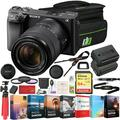 Sony a6400 4K Mirrorless Camera ILCE-6400M/B (Black) with 18-135mm F3.5-5.6 OSS Zoom Lens 64GB Memory Deco Gear Travel Case Filter Kit & Extra Battery Power Editing Bundle