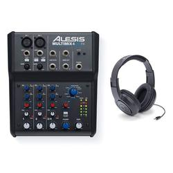 Alesis Multimix 4 USB FX w/ Samson SR350 Headphones Bundle