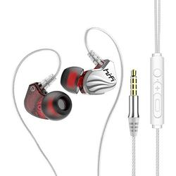 Wired Earphones, Wired Earbuds,Hi-Res Earphone,Dual Driver Earbud & in-Ear Headphones with Detachable Cable, Wired Headphones with mic,Sweatproof, Noise Cancellation Earphones HiFi Stereo