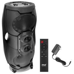 Pyle PPHP82LB - 8'' Multi-Purpose Speaker System - 2 Channel , TWS Function, Speaker with Remote Control, LED Display, USB/Micro SD/FM/Mic and Guitar Inputs (1000 Watts)