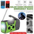 VONTER Weather Radio Solar Hand Crank Portable Emergency Radio,AM/FM NOAA Weather Radio with LED Flashlight, 2000mAh Cellphone Charger, Reading Lamp,SOS Alarm