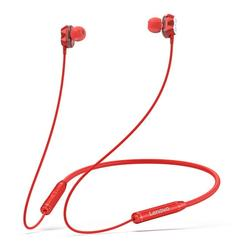 Lenovo HE08 Neck Hanging Wireless Bluetooth Headphone In-ear Earphone IPX5 Waterproof Sports Earbud with Noise Cancelling Mic Red