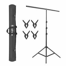 T-Shape Backdrop Background Support Stand System with Carry Bag and 4 Clamps for Background, Photo and Video Studio