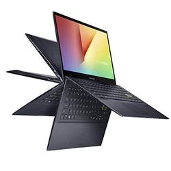 ASUS VivoBook Flip 14 Thin and Light 2-in-1 Laptop, 14? FHD Touch Display, AMD Ryzen 7 4700U, 8GB DDR4 RAM, 512GB SSD, Glossy, Stylus, Windows 10 Home, Fingerprint Reader, Bespoke Black, TM420IA-DB71T