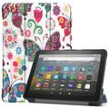 Allytech Amazon New Kindle Fire HD 8 Case (8-inch Display, 10th Generation, 2020 Released), Slim Trifold Stand Protective Auto Sleep Wake Case Cover for Amazon Kindle Fire HD 8 2020, Butterfly