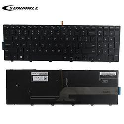 SUNMALL New Laptop Notebook Replacement Keyboard with Backlit Compatible with Dell Inspiron 15 3000 3541 3542 5000 5547 Black US Layout