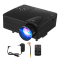 """Mini Projector,Video Projector Movie Projector, 400 lux LED Portable Home Theater Projector 1080P and 100"""" Supported, Compatible with PS4, PC via VGA, TF, AV"""