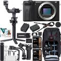 Sony a6600 Mirrorless Camera 4K APS-C Interchangeable Lens Body Only ILCE-6600B Filmmaker's Kit with DJI RSC 2 Gimbal 3-Axis Handheld Stabilizer Bundle + Deco Photo Backpack + Software