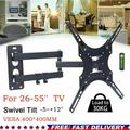 New Arrival Full Motion TV Wall Mount Corner Bracket with Perfect Center Design for Most of 26-55 Inch LED, LCD, OLED Flat Screen TV, Mount with Swivel Articulating Arm, up to VESA 400x400mm MD2377