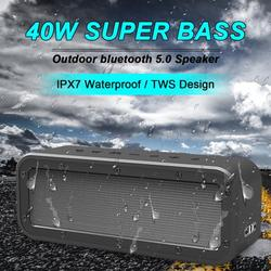 Waterproof IPX7 Bluetooth Speaker, Stoneway WAKE1983 Speaker Bluetooth Wireless with Strong Bass & 40W HD Sound, Bluetooth Speakers49Ft Wireless Range, Portable Speakers for Outdoors, Travel