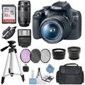 Canon EOS Rebel T7 DSLR Camera Bundle w/Canon 18-55mm Lens + Canon EF 75-300mm f/4-5.6 III with Accessory Bundle, Package Includes: SanDisk 32GB Card + DSLR Bag + 50'' Tripod+ONESTOPCloth